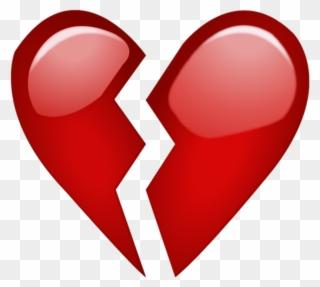 Emoji De Coracao Partido Clipart.