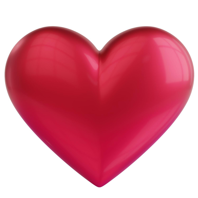 Coração 3D PNG.
