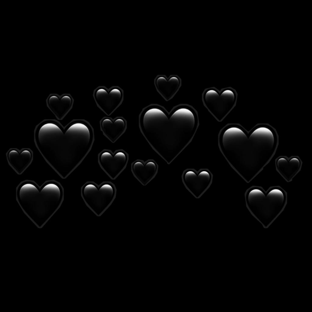emojis emoji coração preto.
