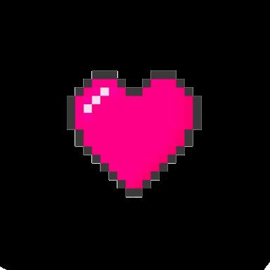 coração heart rosa pixel tumblr.