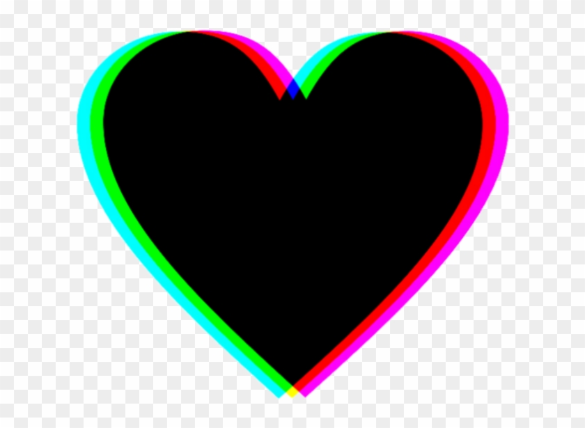 Sticker Heart Black Tumblr Hearts Coracao Icon Png.