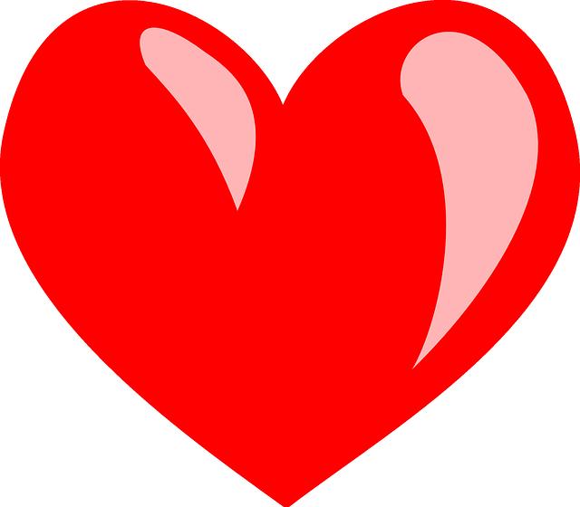 Coração Vermelho Valentim Amor.