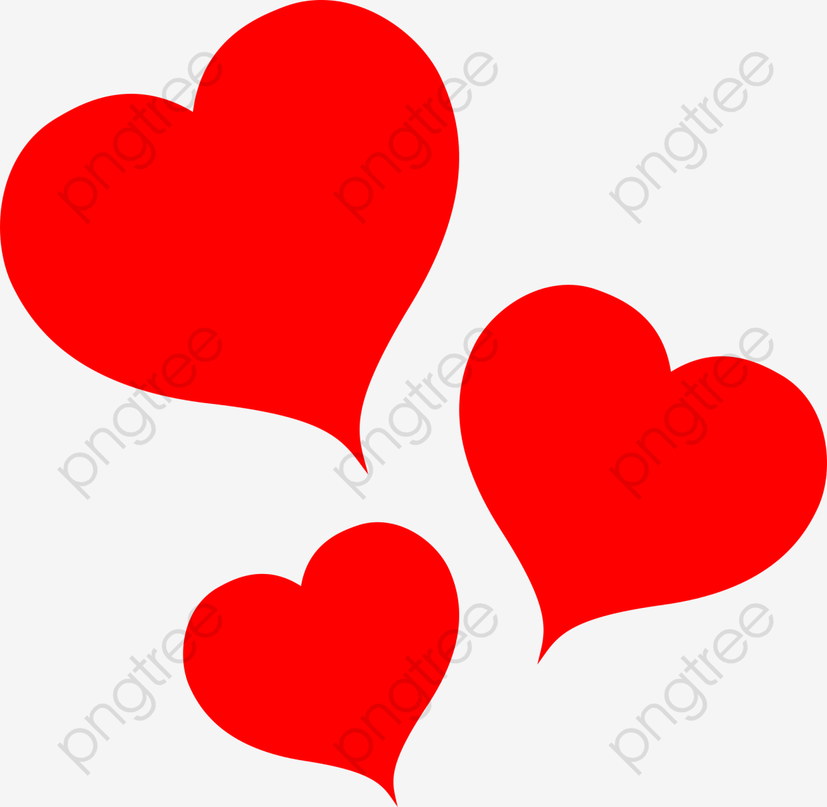 Doce Coração Vermelho, Linda, Coração Vermelho, Decoração PNG Imagem.