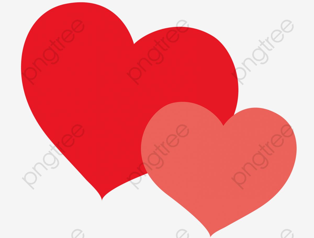 Dois Corações, Gráfico De Vetor, Coração Vermelho, Coração Vermelho.