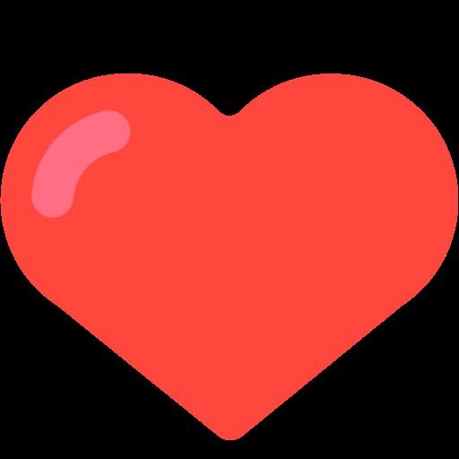 Emoji coração vermelho png 1 » PNG Image.