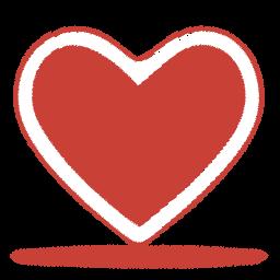 Coração Vermelho, ícone.