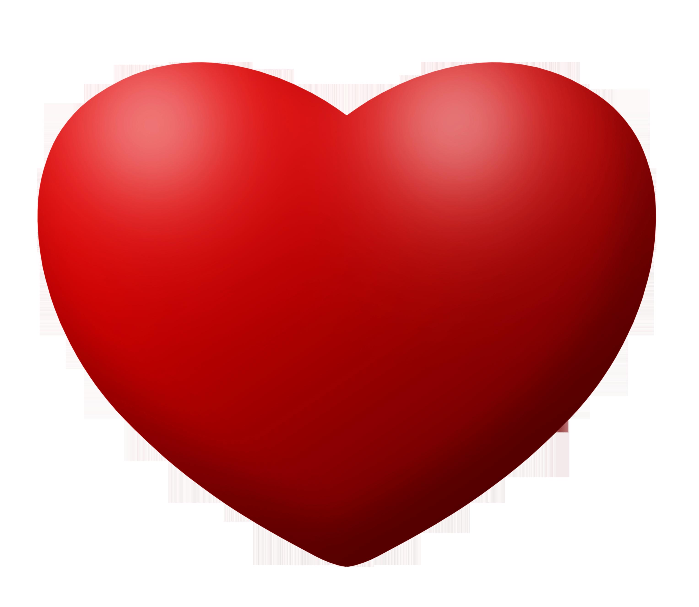 Brilhante forma de coração vermelho, um símbolo de amor, grátis.