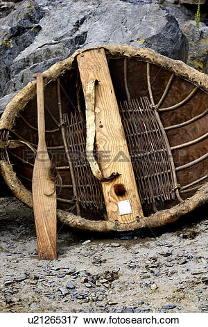 Picture of Scotland, Banffshire, Portsoy, A traditional coracle.