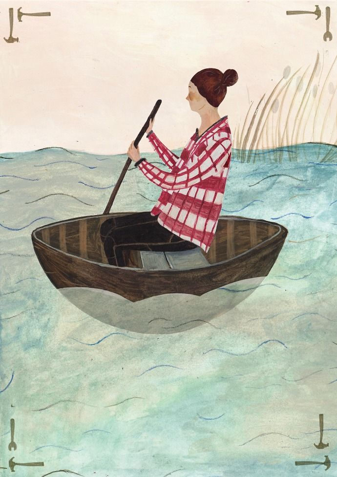 Coracle clipart #3