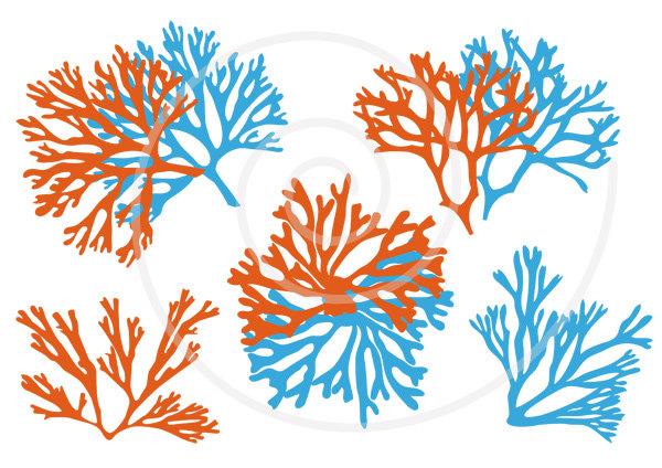 Sea coral clipart.