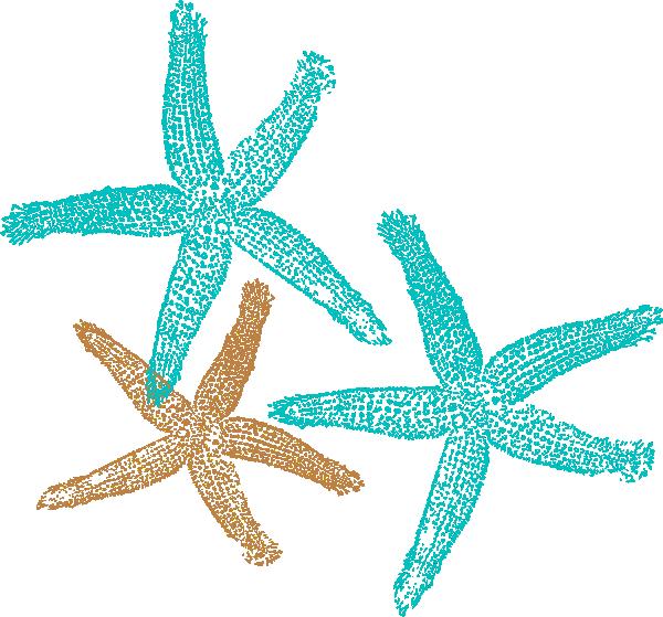 starfish clip art coral color.