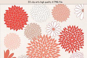 Coral flower clip art Photos, Graphics, Fonts, Themes, Templates.