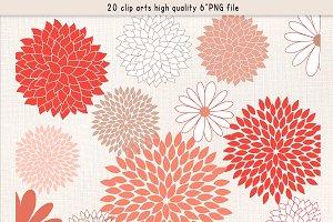 Coral flower clip art Photos, Graphics, Fonts, Themes, Templates.