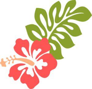 Coral Hibiscus Clip Art.