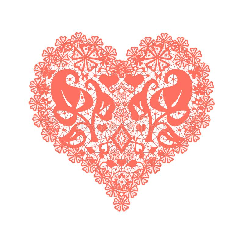 Coral Heart Stock Illustrations.