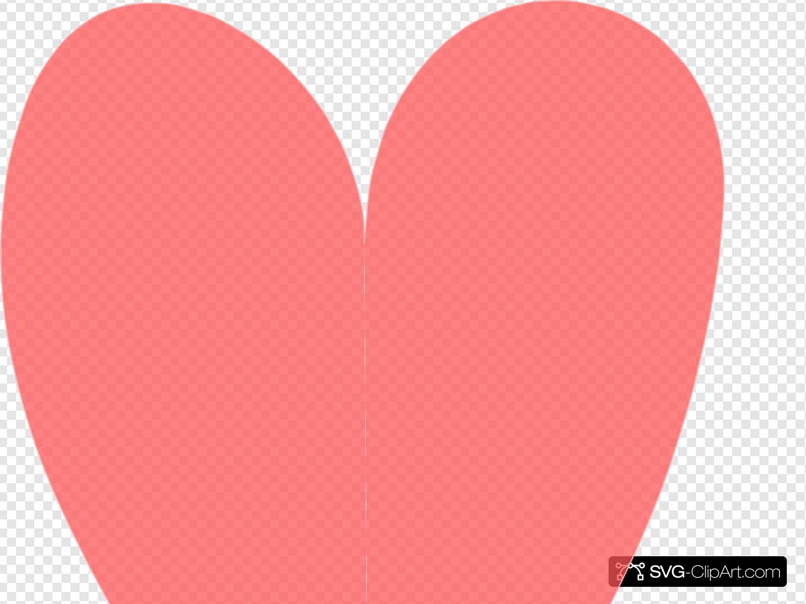 Orange Coral Heart Clip art, Icon and SVG.