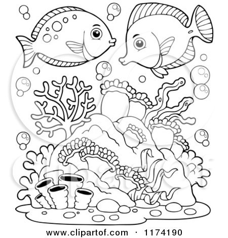 Coral reefs clipart black and white 4 » Clipart Portal.