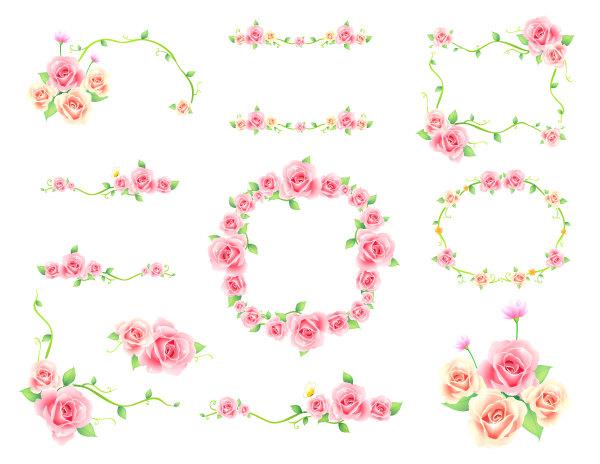 Floral frame clip art.