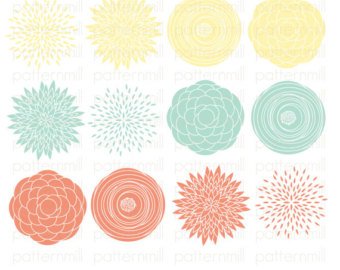 Peach Flower Clipart.