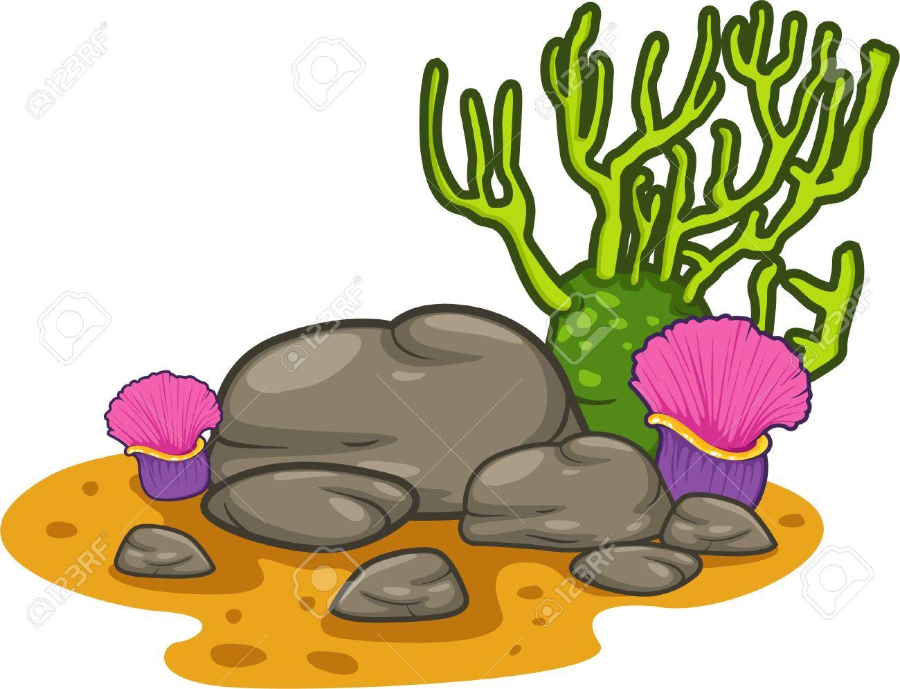 Under the sea corals clipart.