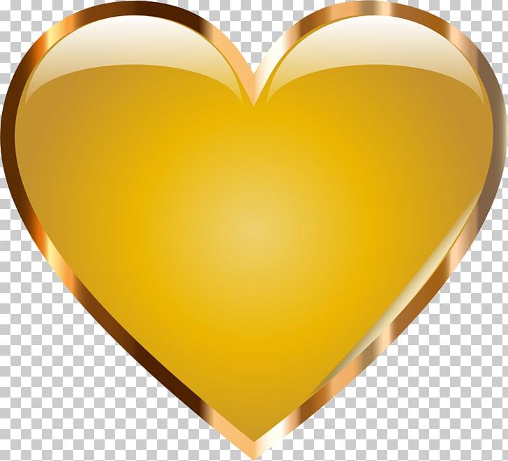 Corazón de oro corazón de oro PNG Clipart.