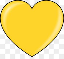 Corazón de oro de la Energía de la Magia Clip art.