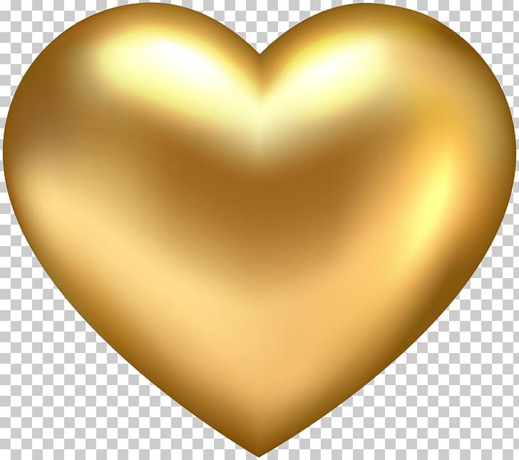 Ilustración de corazón de oro, corazón de oro, corazón de.