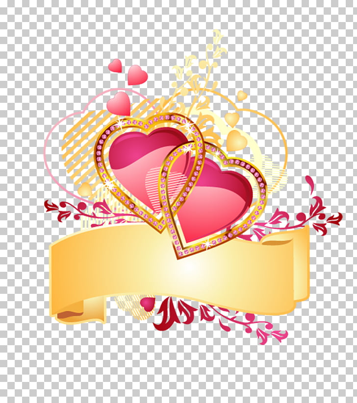 Corazón de oro, de corazón a corazón PNG Clipart.