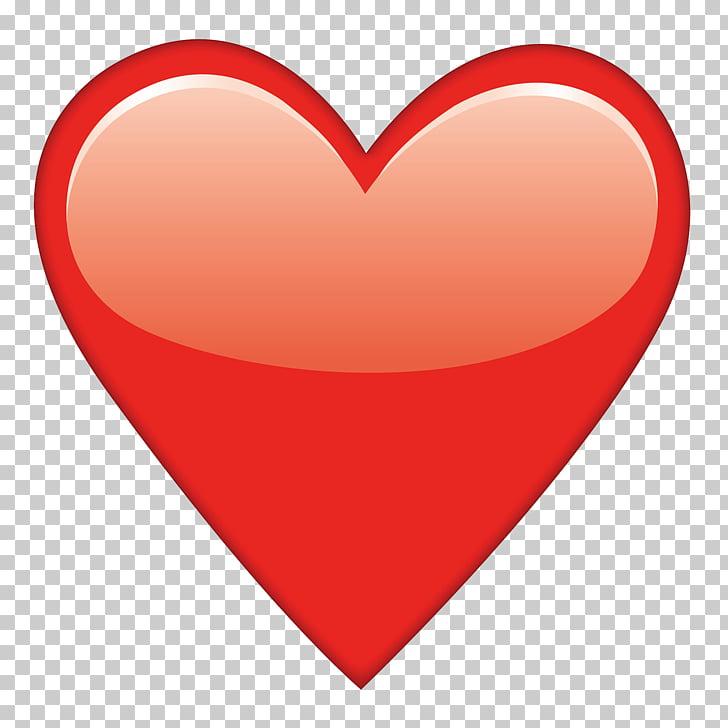 Corazón rojo, emoji corazón, emoji PNG Clipart.