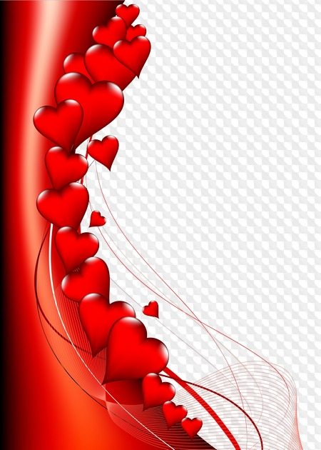 Valentine frame for photo (photoshop).