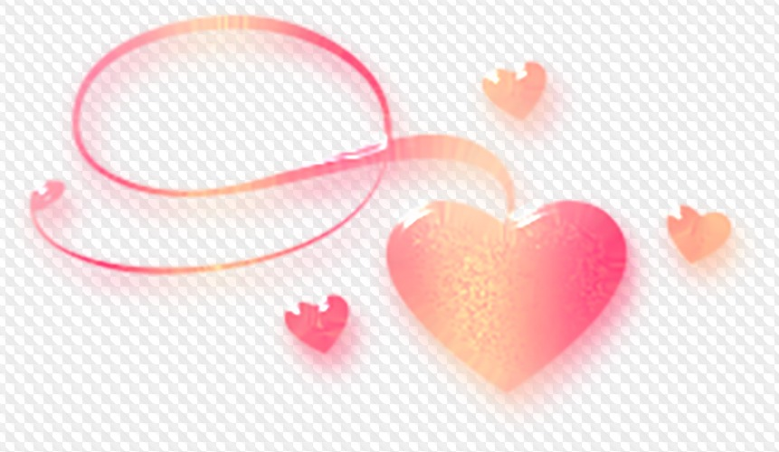 PSD, 20 PNG, Hearts Moon shadow with transparent background.