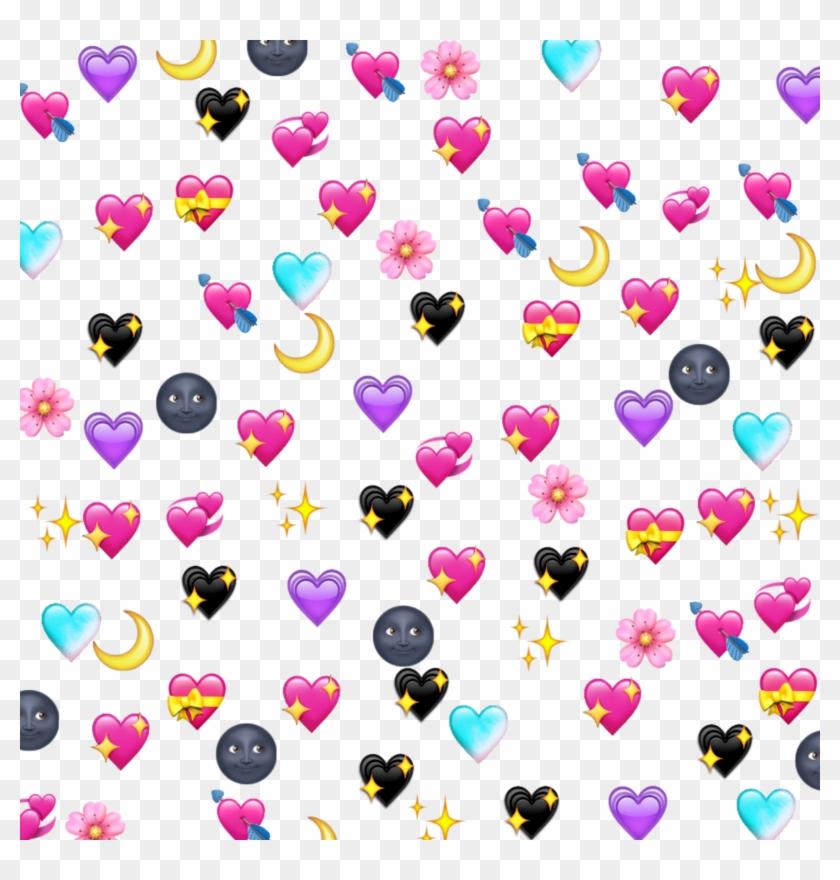 Emoji Emotion Hearts Moon Lua Coração Corazones Tumblr.