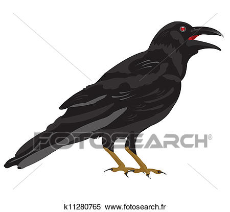 Noir, corbeau Clipart.
