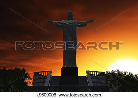 Stock Illustration of Corcovado Sunset k9609008.