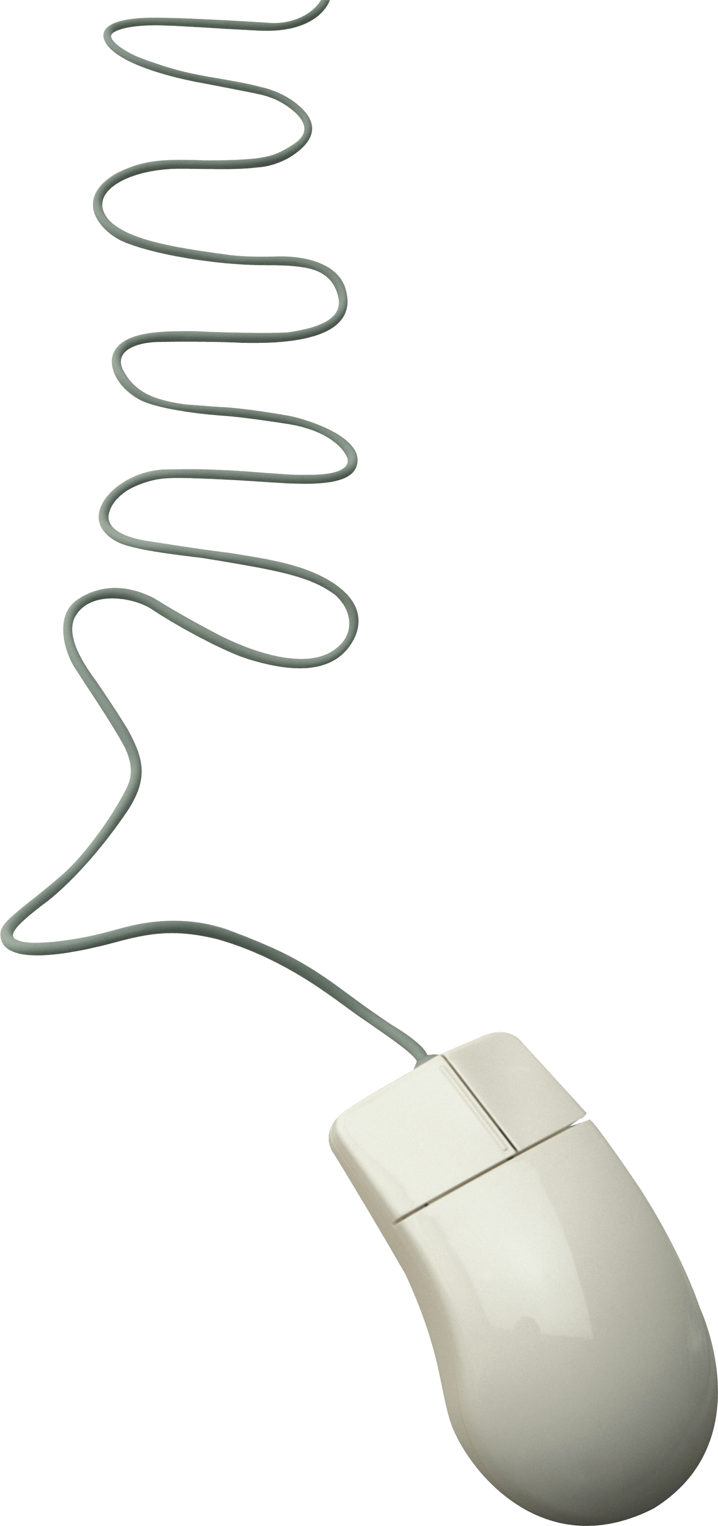 Computer Mouse Long Cord transparent PNG.