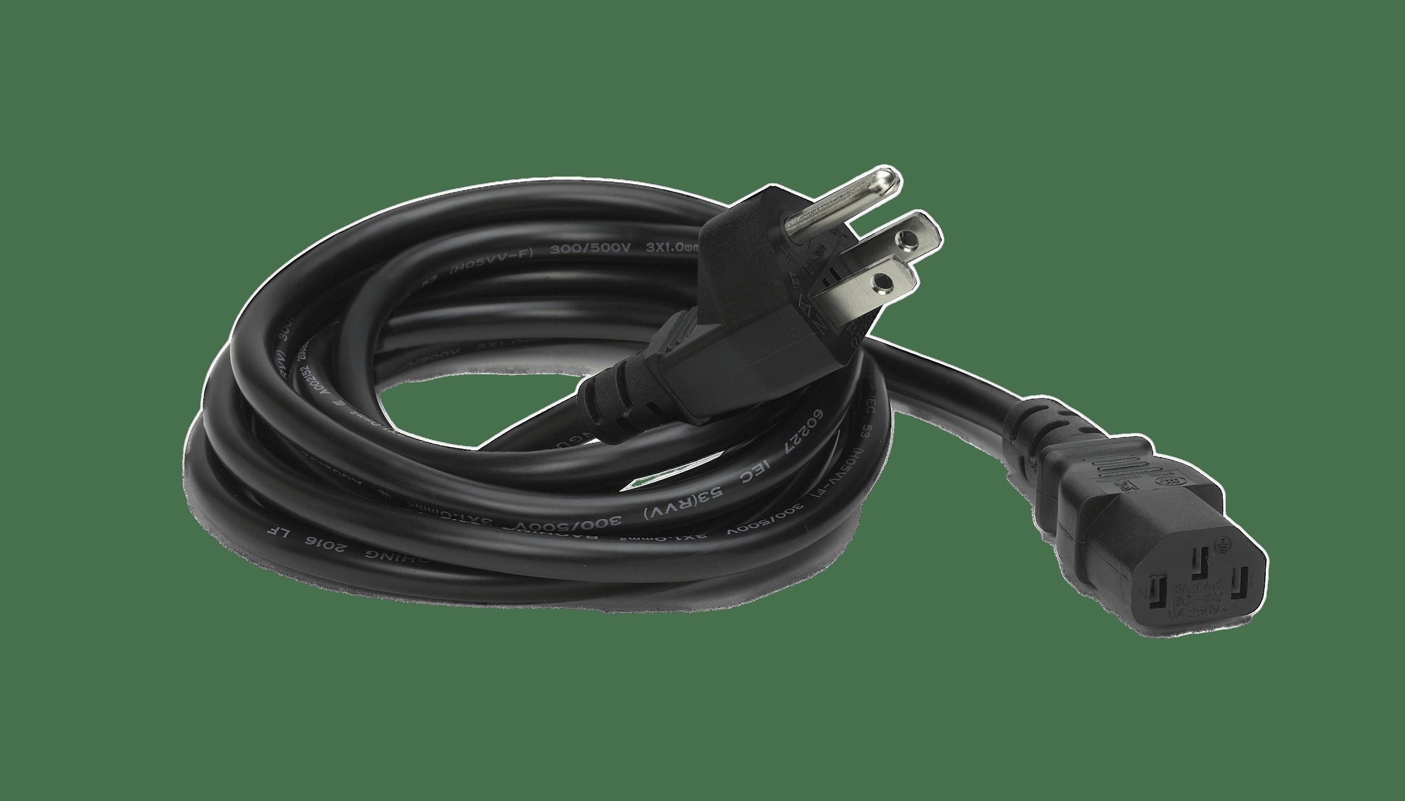 US Black Extension Cord transparent PNG.