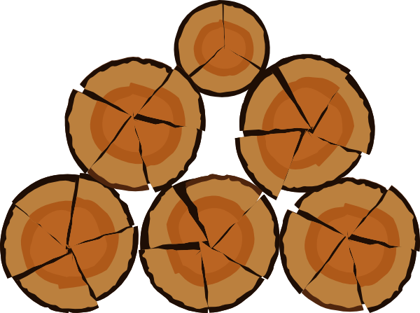 Pile of logs clipart.