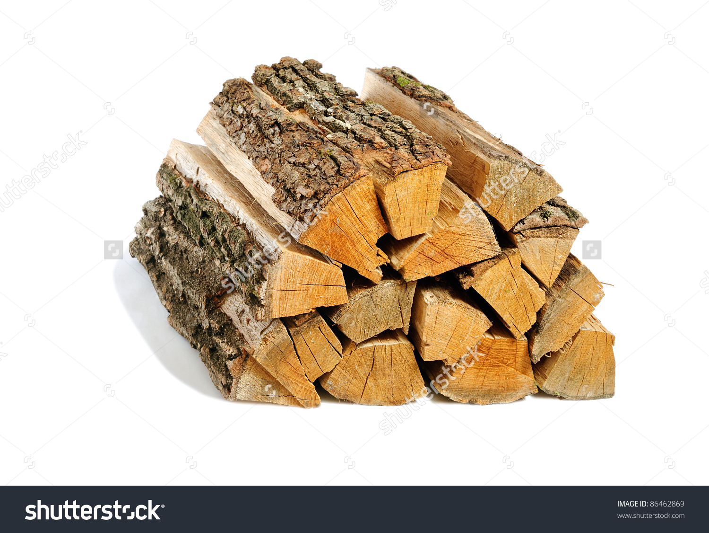 Bundle Firewood Isolated Stock Photo 86462869.