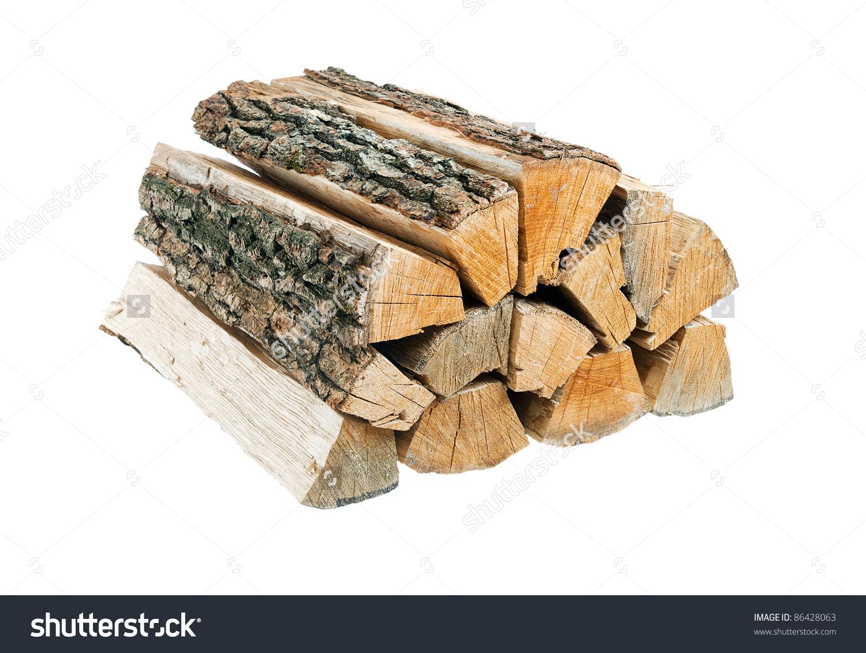 Bundle Firewood Isolated Stock Photo 86428063.