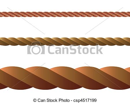 Stock Illustration of rope vector.