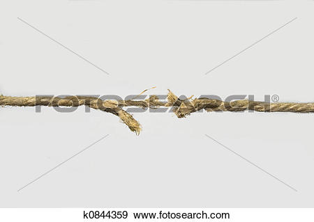 Stock Photograph of The cordage broken soon k0844359.