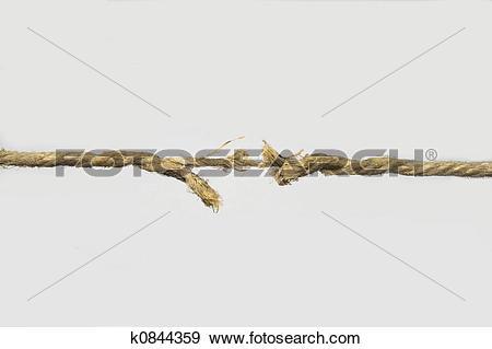Stock Photograph of The cordage broken soon k0844359.