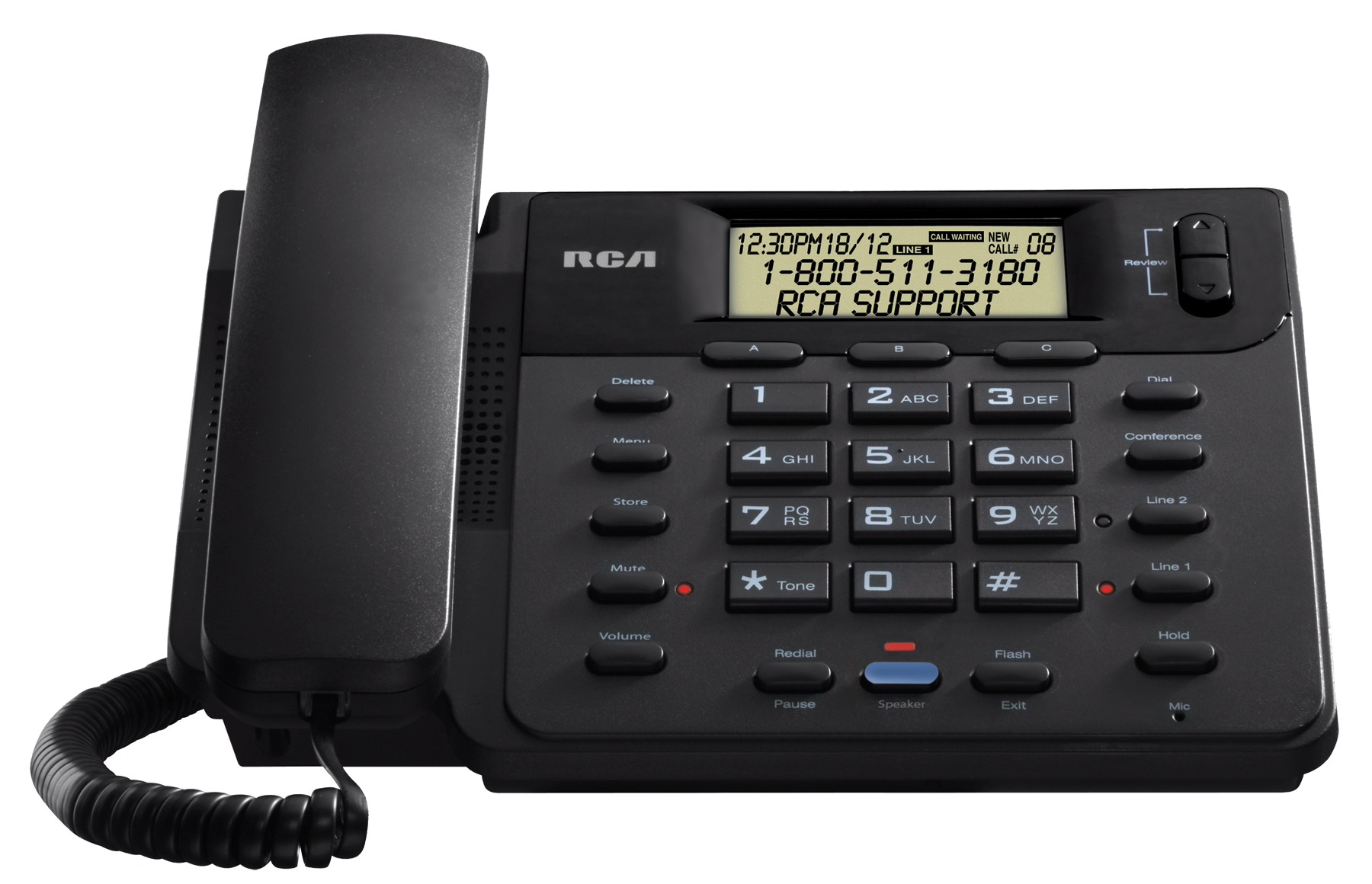 Landline Phone PNG Image File.