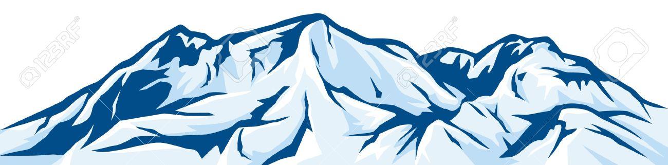 Ilustración De La Cordillera Paisaje Nevado Ilustraciones.