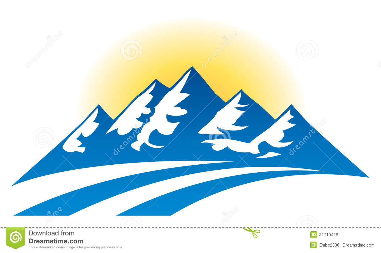 Logotipo De La Cordillera Ilustración del Vector.