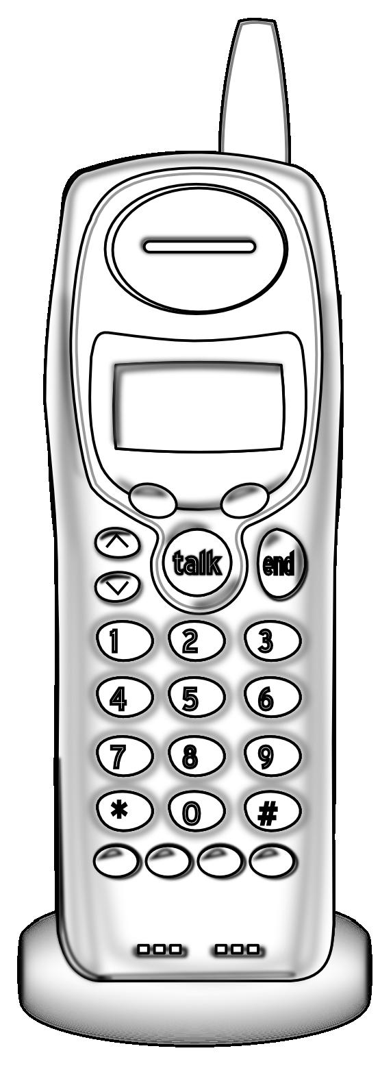Cordless phone clipart.