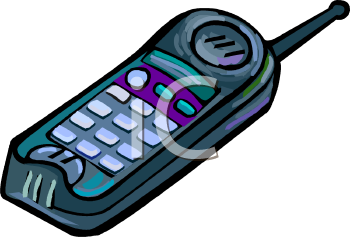 Royalty Free Clipart Image: Cordless Phone.