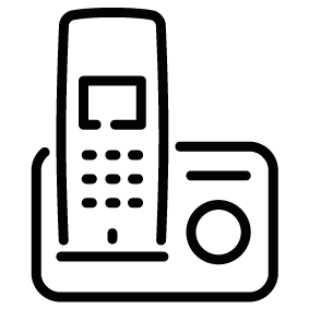 Cordless Phone Silhouette.