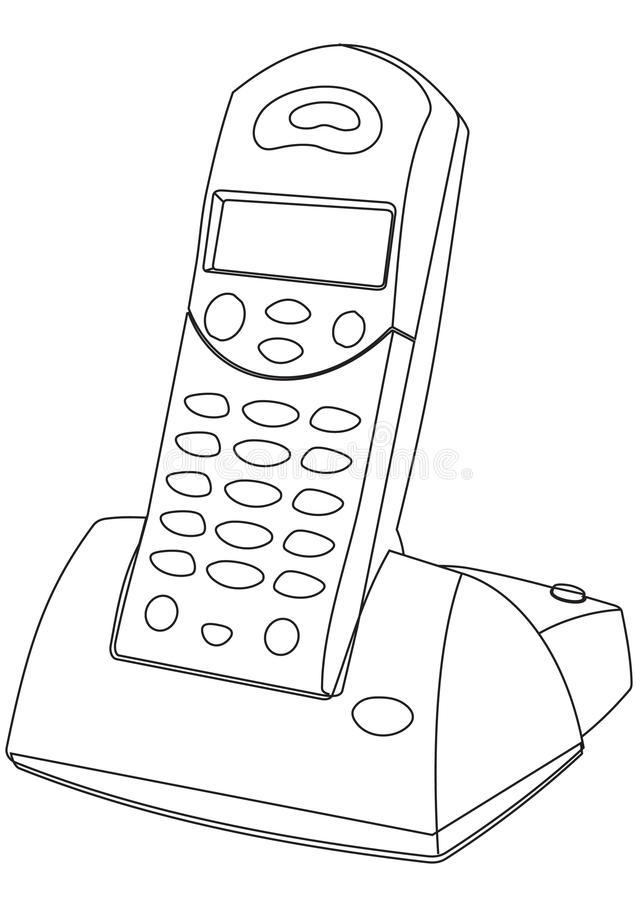 Cordless Phone Stock Illustrations.
