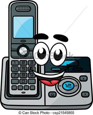 Cartoon cordless phone.